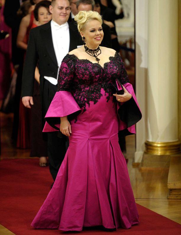 Vuonna 2008 Rusanen nähtiin Presidentinlinnassa upeassa iltapuvussa.