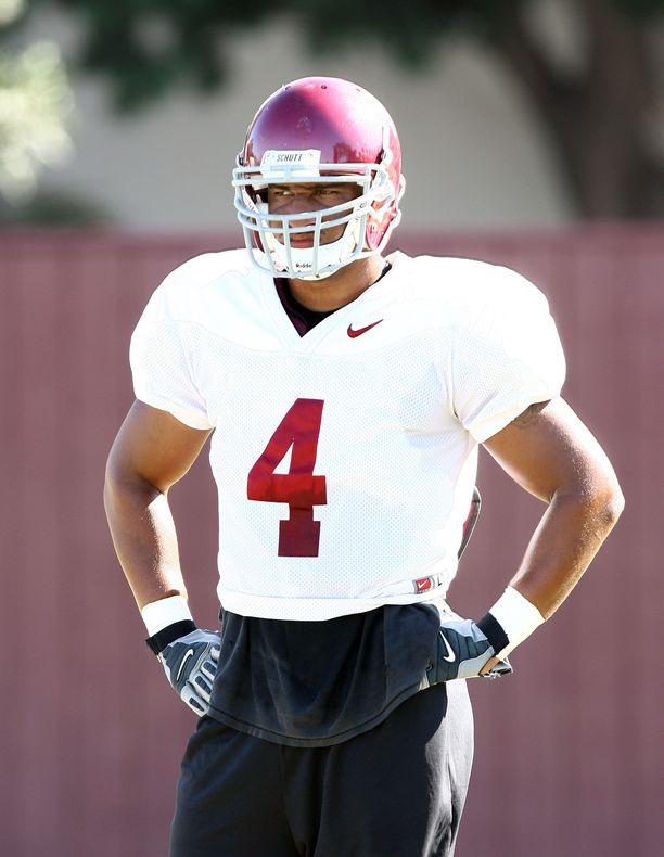 Kevin Ellison Etelä-Kalifornian yliopistojoukkue Trojansin paidassa vuonna 2008.