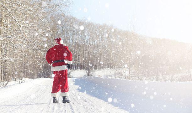 Esimerkiksi Kainuussa ja Pohjois-Savossa lunta on niin paljon, että lumi tuskin enää sulaa jouluksi. Kuvituskuva.