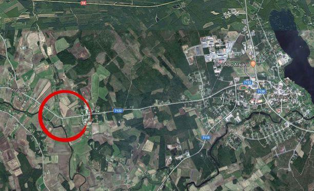 Onnettomuus tapahtui Alajärven ja Kurejoen välillä keskiviikkona.