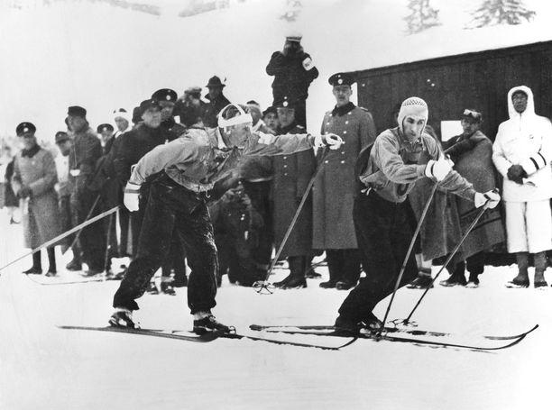 Matti Lähde lähettää Kalle Jalkasen helmikuussa 1936 Garmisch-Partenkirchenin olympiaviestin ankkuriosuudelle, josta muodostuu kaunis pala suomalaista urheiluhistoriaa.