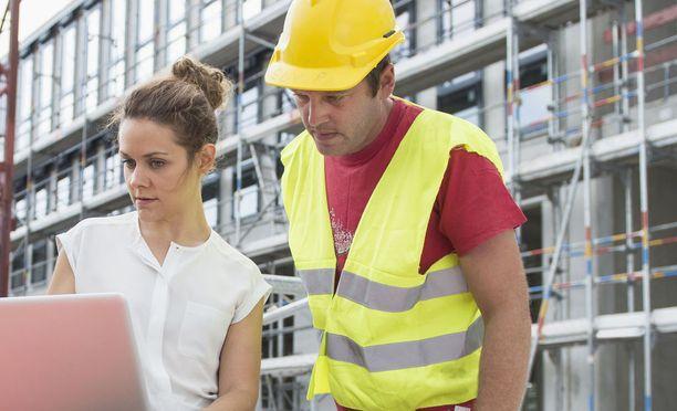 Rakennusalan töissä on ollut työpaikkoja.