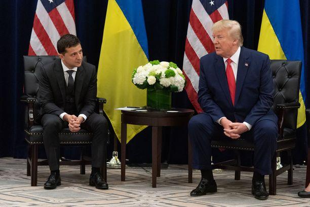 Ukrainan presidentti Volodymyr Zelenskiy tapasi New Yorkissa YK:n yleiskokouksessa presidentti Trumpin.