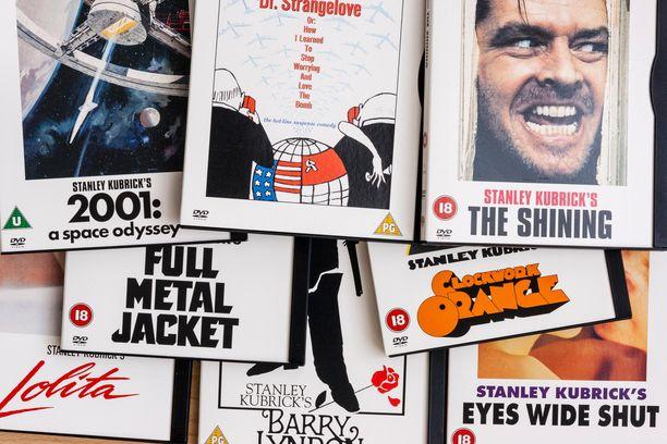 Stanley Kubrickin ohjaamien elokuvien kansia.