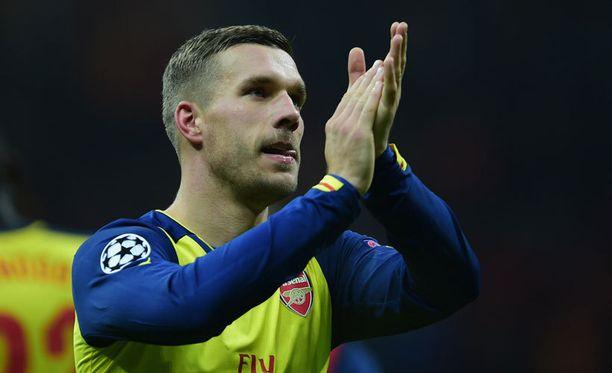 Lukas Podolski jatkaa uraansa Milanossa.