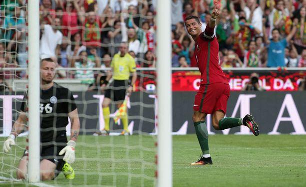 Cristiano Ronaldo onnistui jälleen maalinteossa.