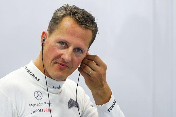 Tämä otos syksyltä 2012 on yksi viimeisistä kansainvälisten kuvatoimistojen kuvista, joissa Michael Schumacher esiintyy.