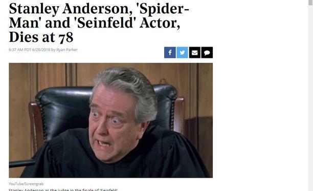 Stanley Anderson näytteli Seinfeldissä tuomari Vandelayta.