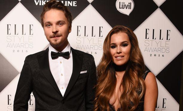 Salminen ja Sieppi Elle Style Awards-gaalassa.