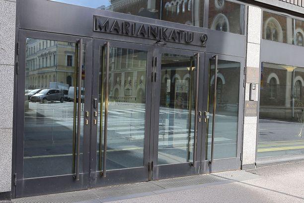 Valtiovarainministeriön tilat sijaitsevat Mariankadulla lähellä Presidentinlinnaa.