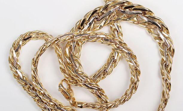 Naisen useiden satojen eurojen arvoinen kultakoru varastettiin. Kuvituskuva.