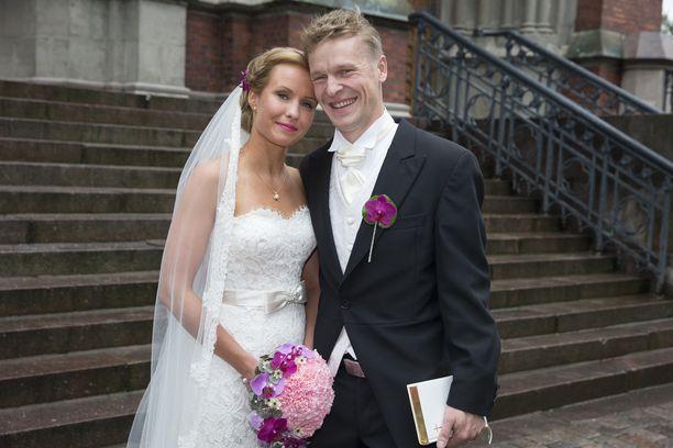 Heidi ja Toni Nieminen menivät naimisiin syyskuussa 2015.