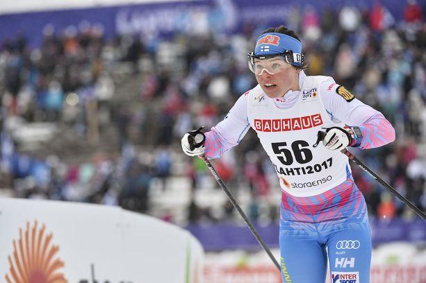 Krista Pärmäkoski voitti Lahdessa kaksi MM-mitalia.