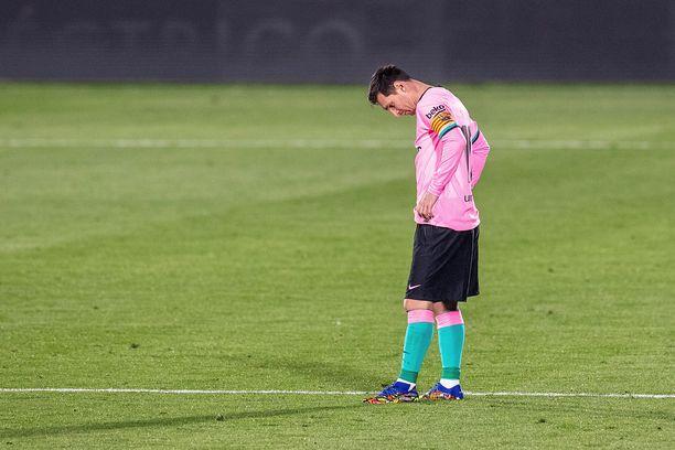 Lionel Messi ja kumppanit joutuivat pettymään Getafen vieraana.