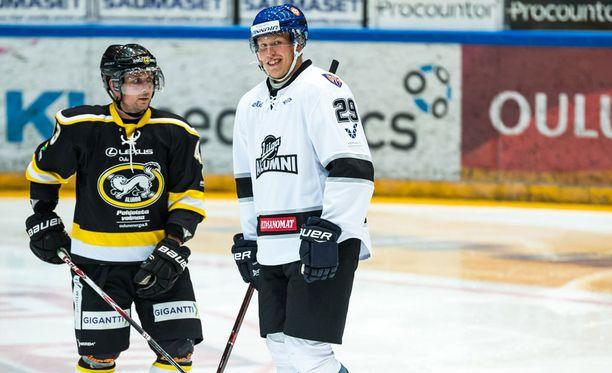 Kärpissä debytoivaa Rasmus Kuparia valmentanut Antti Aarnio ehti rupatella kesän hyväntekeväisyysottelussa myös Patrik Laineen kanssa.
