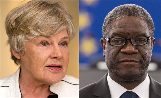 Elisabeth Rehn arvostaa suuresti Nobelin rauhanpalkinnon saanutta Denis Mukwegea.
