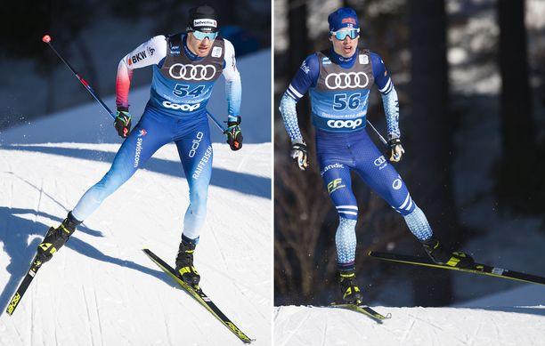 Dario Cologna ja Iivo Niskanen kunnioittavat toisiaan.