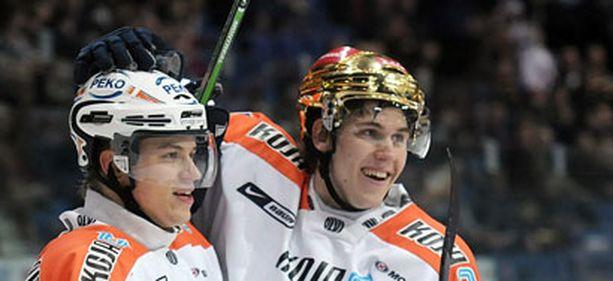 Jori Lehterä(oikealla) on kahdella viime kaudella ollut SM-liigan kirkkaimpia tähtiä.