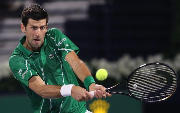 Novak Djokovic on miesten maailmanlistan ykkönen.