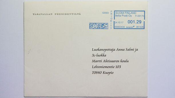 Yllätys oli melkoinen, kun Tasavallan presidentin kansliasta tuli kirje.