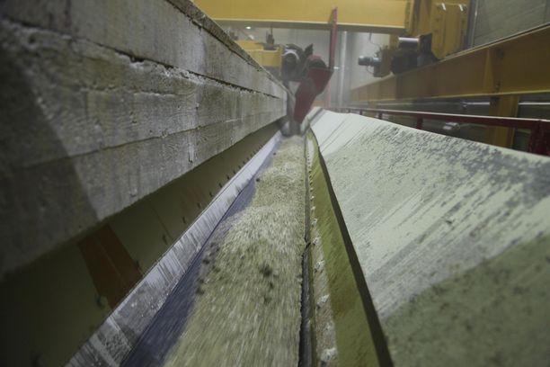 Litiumin tuotanto Kaustisilla riittäisi yhden akkutehtaan tarpeiksi moneksi vuodeksi. (kuva Keliber Oy)