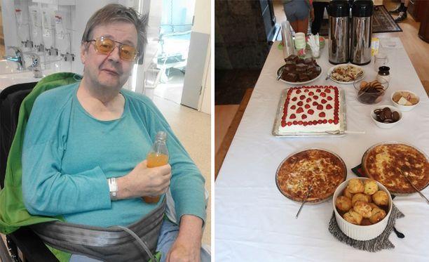 Kun 70-vuotta täyttänyt Kaj Winberg ei päässyt invataksilla juhliinsa, juhlat tulivat Winbergin luo.