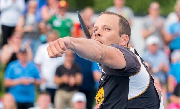 Tero Pitkämäki kiskaisi jälleen SM-kultaa miesten keihäässä.