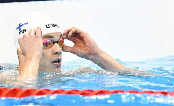Ari-Pekka Liukkonen ui upeasti MM-finaaliin 50 m vapaauinnissa.