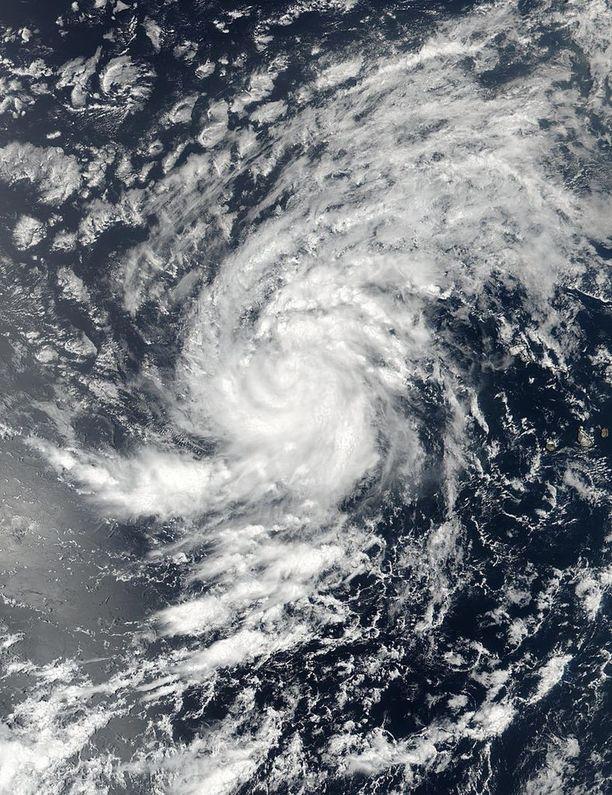 Tältä Irma näytti viime keskiviikkona Atlantilla. Kuvan on ottanut Nasan Suomi NPP -sääsatelliitti.