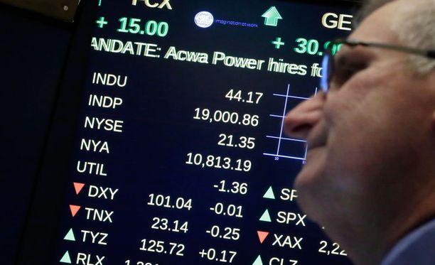 Dow Jones kipusi jälleen ennätykseen.