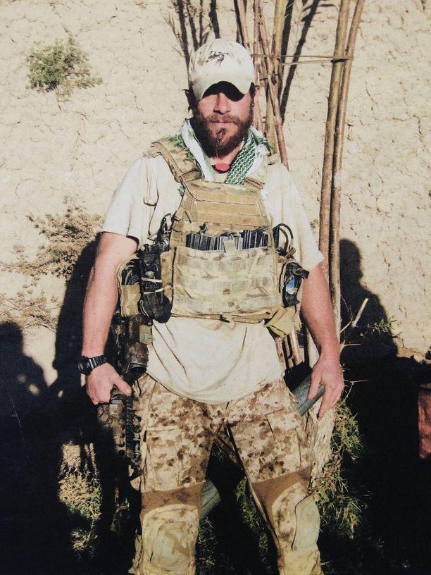 Gallagher palveli sekä Irakissa että Afganistanissa. Kuvan toimitti medialle hänen vaimonsa.