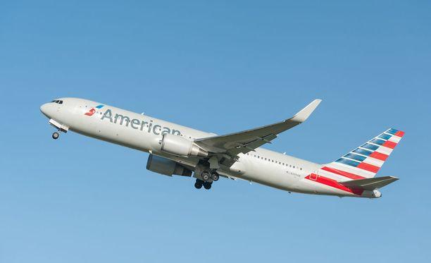 American Airlines on maailman suurin lentoyhtiö. Kuvituskuva.