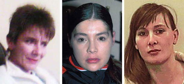 Susan Rushworth (vas.), 43, Suzanne Blamires, 36, ja Shelley Armitage, 31, kohtasivat karmean lopun.