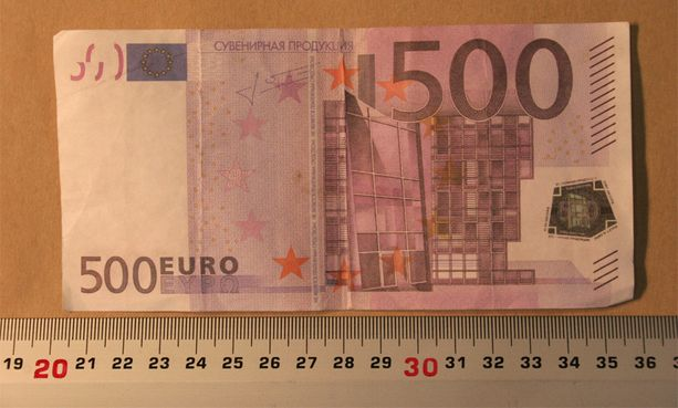 Tällainen leikkiraha tavattiin Tampereella neljä vuotta sitten.