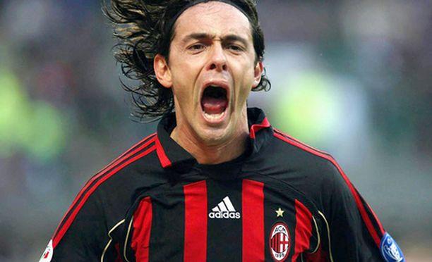 Filippo Inzaghi kuuluu AC Milanin tähtikaartiin.