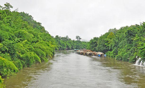 Kwai-Joki on kuuluisa myös kauniista luonnostaan.