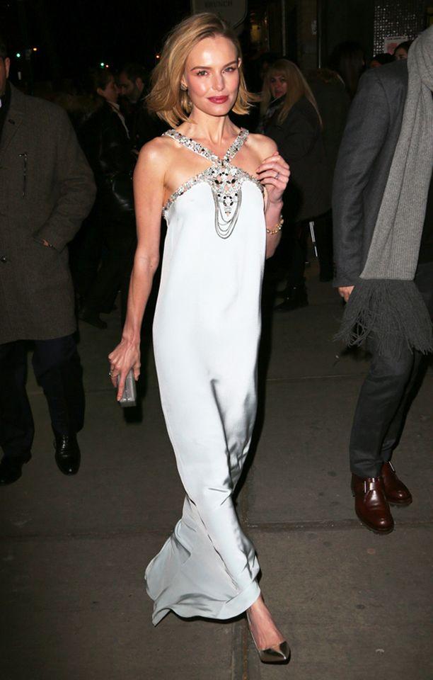 Kate Bosworth esitteli uuden hiustyylinsä New Yorkissa.