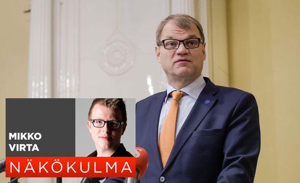 Pääministeri Juha Sipilä (kesk) on kiireinen mies.