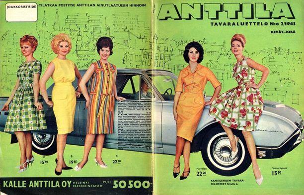 Vielä 60-luvulla tavaraluettelot olivat ohuempia kuin tulevien vuosikymmenten kuvastot. Kuvassa vuoden 1963 luettelo.