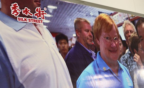 Presidentti Halosen avustaja ei pystynyt kertomaan millä matkalla kuva on otettu.