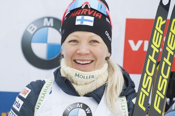 Kaisa Mäkäräinen tienasi sunnuntain voitostaan 15 000 euroa.