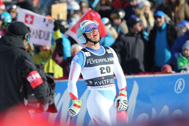 Barandun kilpaili alppihiihdon maailmancupissa tämän vuoden puolella seitsemän kertaa.