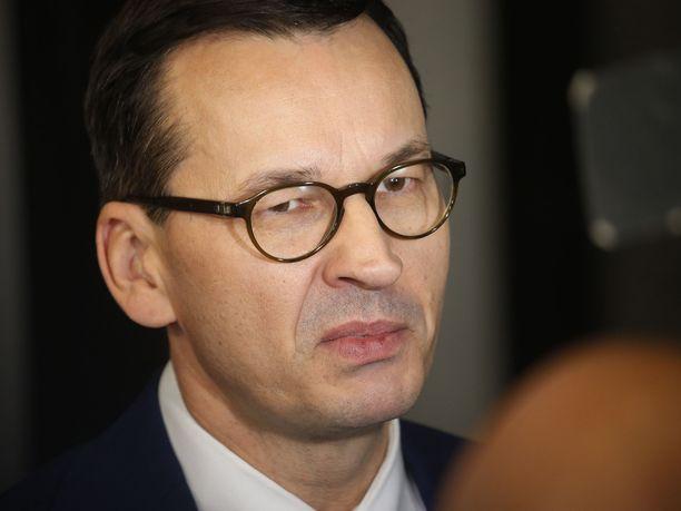 Puolan pääministeri Mateusz Morawiecki syyttää Venäjän presidentti Vladimir Putinia valehtelusta.