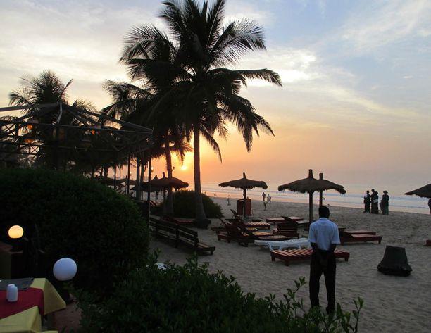 Yksi Gambian tärkeimmistä elinkeinoista on matkailu. Kuvituskuva.
