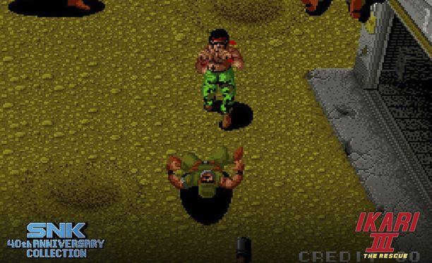 Ikari Warriors on yksi tunnetuista SNK:n peleistä.