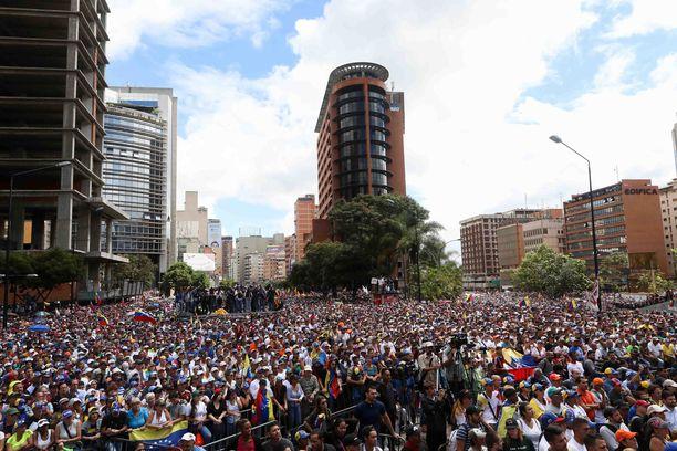 Tältä Caracasissa näytti tammikuussa.