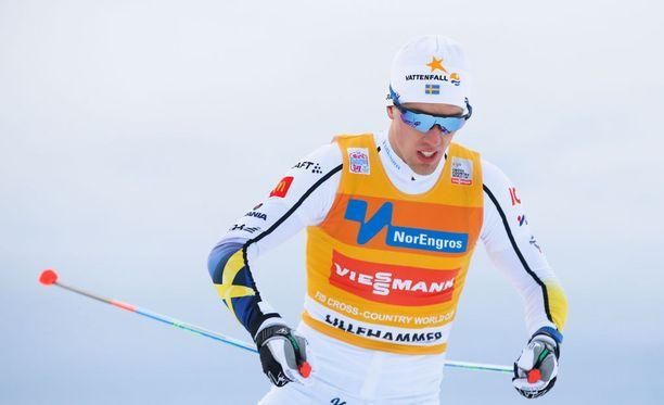 Calle Halfvarsson romahti Lillehammerin päätöspäivänä.