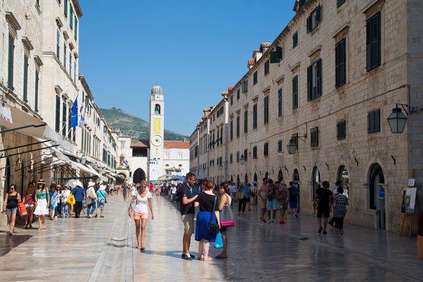Dubrovnikin vanhassakaupungissa on tunnelmaa.