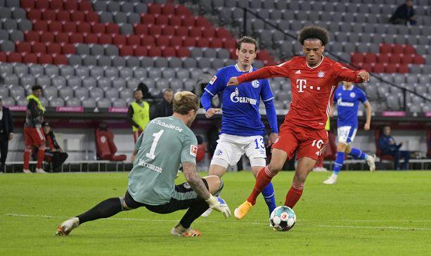 Leroy Sané onnistui heti debyytissään Bayernin paidassa.