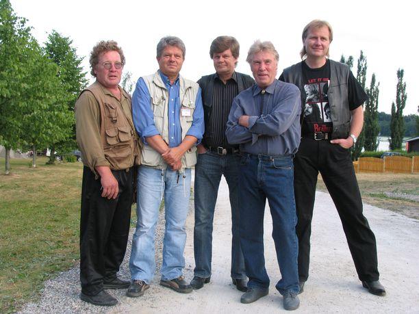 Kaseva-yhtye, eli Nils Jokela, Jouko Järvinen, Tapio Rauma, Mikko Jokela ja Tapio Virtanen